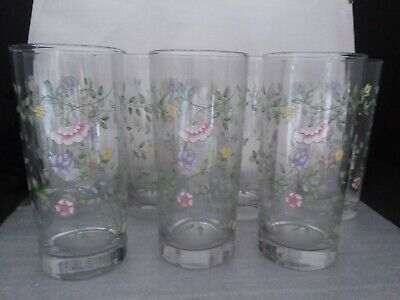 Set of 7 Johnson Brothers SUMMER CHINTZ 16 Oz Tumblers Excellent Condition