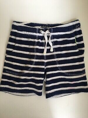Mini Boden Towelling Shorts 6Y Boys Girls Stains on Bottom