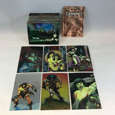 1994 Conan 2 All Chromium Collector Cards Complete Set In Mint Condition Trading Card Lots
