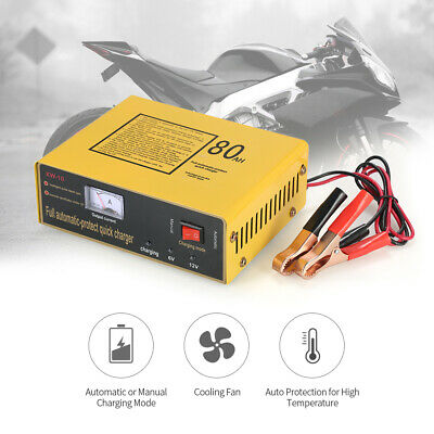 6V/12V 80AH Intelligent Automatic LED Charger Pulse Repair Type Battery V9W4
