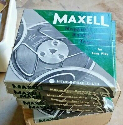 Collection of very good condition Reel to reel Maxell tapes