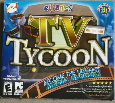 Video Game PC TV Tycoon on the air media mogul NEW SEALED