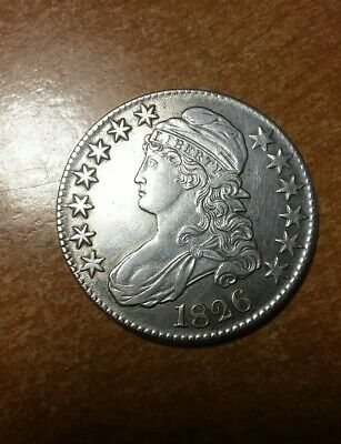 1826 Capped Bust Silver Dollar United States Half Dollar Bust 50 Cent Piece