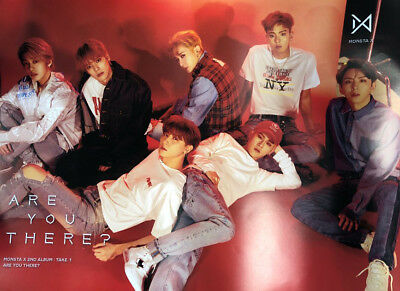 MONSTA X [TAKE.1 ARE YOU THERE?] Album RED Ver. Official FOLDED POSTER ONLY