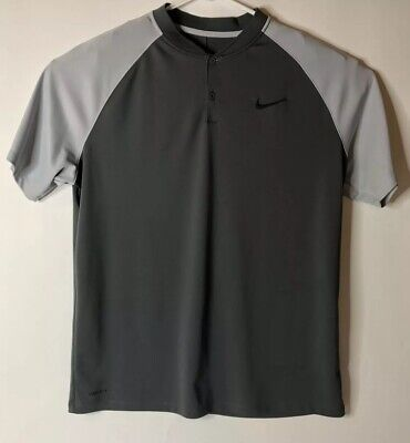 354449ba Nike Dry Momentum Standard Fit Golf Polo Men's Size XL Gray and Black