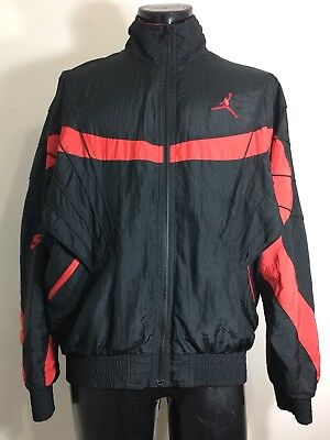 c1af3cd656dc Rare Vintage 80 s OG Bred Nike Jordan Flight Track Windbreaker Jacket Men s  L