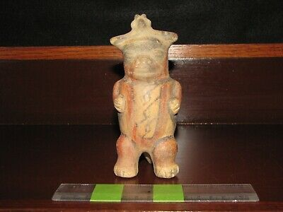 Pre Columbian, Tested, Costa Rican, Nicoya, Choice Standing Figure, 800 1200 AD