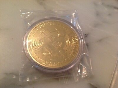 BITCOINS! Bitcoin .999 Fine Copper Physical    Gold Plated
