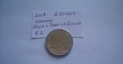 German 2008 circulated Two euro coin