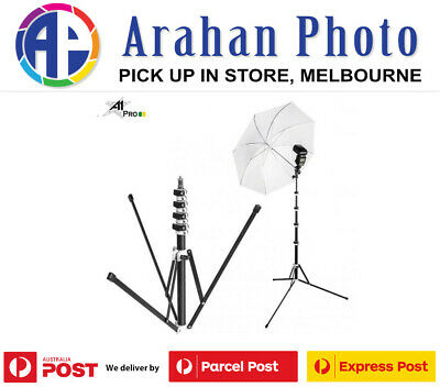 A1Pro 2.1M Compact Travel Light Stand with Detachable Base Leg