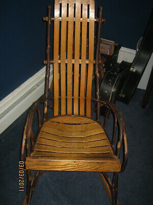 Antique Bentwood Amish Rocking Chair Handmade