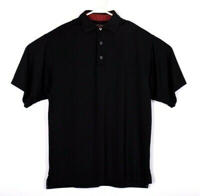Footjoy FJ Mens Black Prodry Lisle Stretch Golf Polo Shirt Sz S