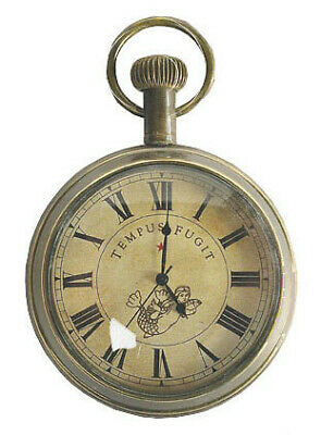 NEW Nautical Victorian Pocket Watchin Silver & Chrome