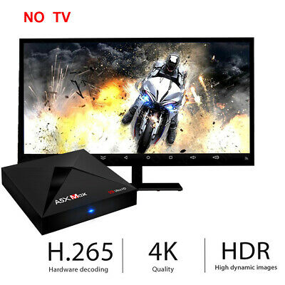 A5X MAX Android 8.1 TV Box RK3328 4GB RAM + 32GB ROM 2.4G WIFI BT4.0 Support