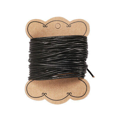 10m Cowhide Leather Cord Leather Jewelry Cord For Bracelet Necklace Black 2mm