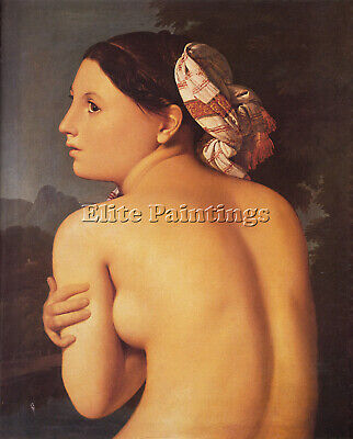 Jean-Auguste Dominique Ingres Half Figure Of A Bather Artist Painting Handmade