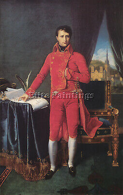 Jean-Auguste Dominique Ingres Bonaparte As First Consul Artist Painting Handmade