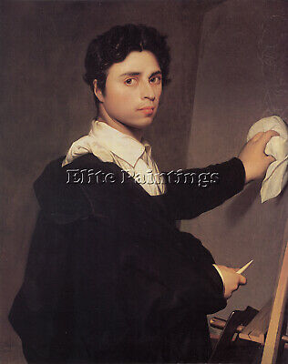 Jean Auguste Dominique Ingres Copy After S 1804 Self Portrait Painting Handmade