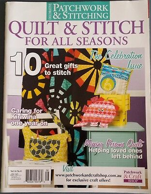 Patchwork & Stitching Magazine Vol.16 No.6 Quilt Bags Cushions Wall-hanging