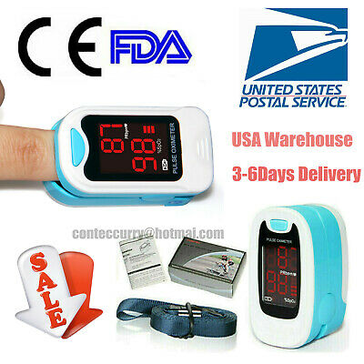 Finger Pulse Oximeter SPO2 Blood Oxygen Saturation Heart Rate Meter Free pouch