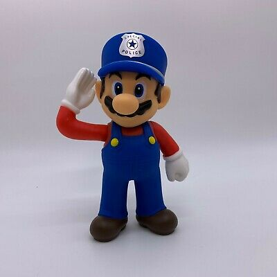 Super Mario Odyssey Navy Mario Figure Plastic Doll Toy 5""