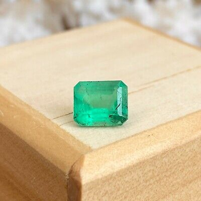 Colombian Emerald Cut Loose emerald 1.85 CT Nice Color Shading Square NEW