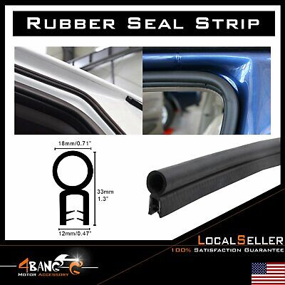 Weatherstrip Rubber Door Seal Car Edge Trim Guard Decorate Soundproof Black 16ft