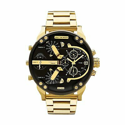 dc8162e40a7c DIESEL DZ7333 MR DADDY 2.0 Gold Multiple Time Zone Chronograph Mens ...