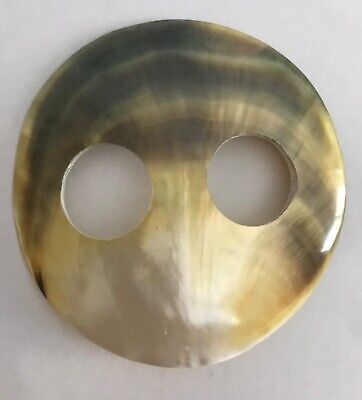 MOTHER OF PEARL SHELL SARONG BUCKLE LARGE 7cm ROUND  LOVELY COLOUR  NEW Style 02