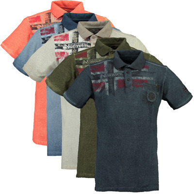 Polo maglia T-shirt Maniche Corte Short Sleeves Kamo GEOGRAPHICAL NORWAY Uomo Me