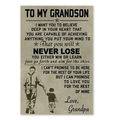 To My Grandson Quote I Wish You The Strenghth Dogtag Necklace Love