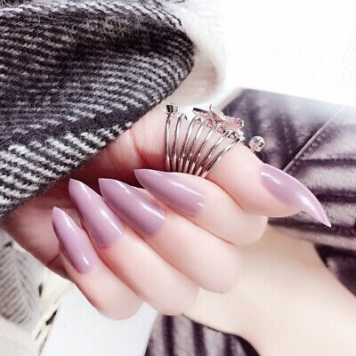 Glamorous nail in three seconds artificial nails glue on fake nails