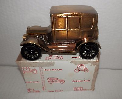 Banthrico Brass 1926 Ford Model Coin Bank NOS