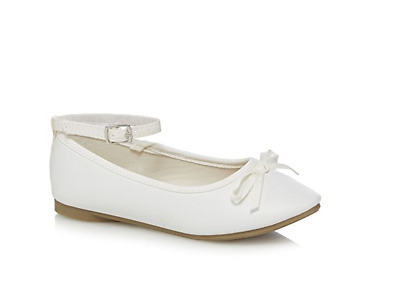 Debenhams Bluezoo White Ballet Shoes UK 6 EU 39 JS085 FF 05