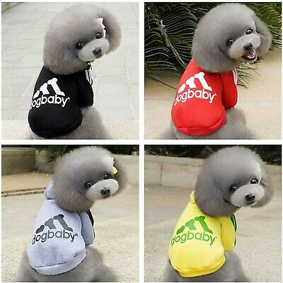 Dog Pet Sweater Hoodie Jacket Winter Coat Warm Clothing Casual Puppy Cat AU