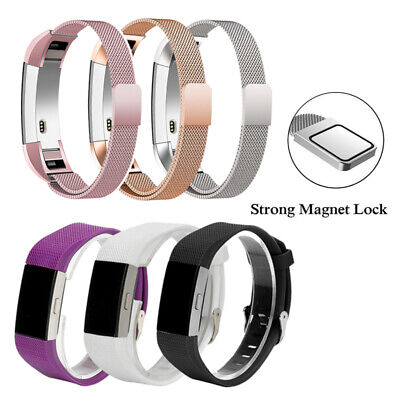 Magnetic Milanese Stainless Steel Watch Band Strap for Fitbit Alta HR Charge 2