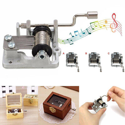 Vintage Mechanism Manual Windup Music Box Movement Famous Song Christmas Gift So