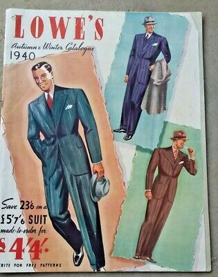 1940 Lowe's Autumn winter  fashion original mail order catalogue