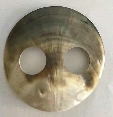 MOTHER OF PEARL SHELL SARONG BUCKLE LARGE 7cm ROUND LOVELY COLOUR NEW Style 024