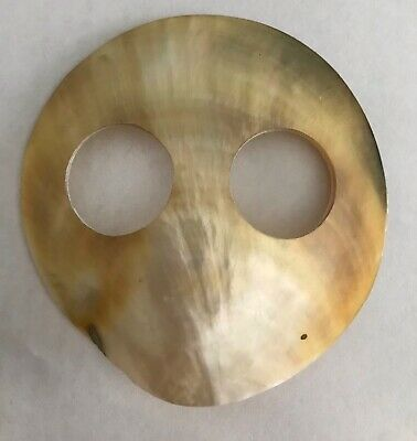 MOTHER OF PEARL SHELL SARONG BUCKLE LARGE 6cm ROUND LOVELY COLOUR NEW Style 037