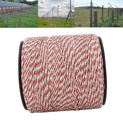 1000m Stainless Steel Roll Polywire Electric Fence Fencing Poly Wire Insulator