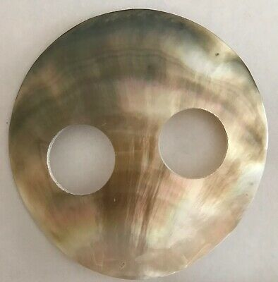 MOTHER OF PEARL SHELL SARONG BUCKLE LARGE 7cm ROUND LOVELY COLOUR NEWStyle 028