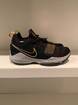aeecd6d4a3e0 Nike PG 1 Paul George Basketball Shoes Black Gold 878627 006 Mens Sizes NEW