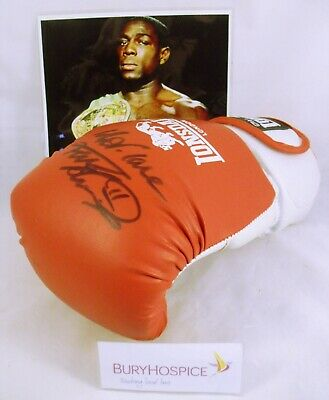 Frank Bruno Signed Boxing Glove with Photo (WH_6997)