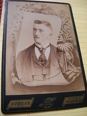 Antique Death Memorial Cabinet Card-Alvin Weller-Reading, Berks County, PA