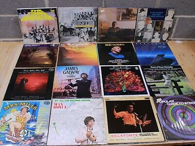 JOB LOT x 100 Vinyl Records LP's Mixed Genre 60's/70's - 226