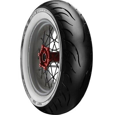 Avon Cobra Chrome AV92 White Wall 140/90B16 77H Rear Motorcycle Tyre BMW