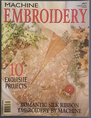 Machine Embroidery Magazine 10 Exquisite Projects-Silk Ribbon