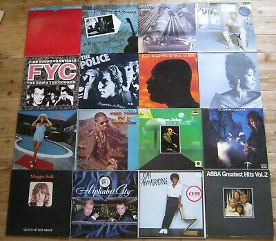 Job Lot x 50 Vinyl Record lp's Rock/Pop The Police,Genesis,Issac hayes ,etc.