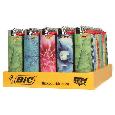 "50 x BIC Lighter ""NATURE"" Series, w/Butane, Full Tray, Same Day Express Shipping"